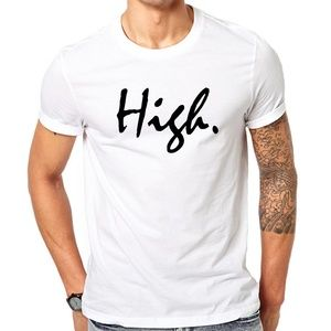 Other - High Men's White T-Shirt